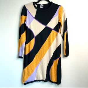Missoni Abstract Design Long Sleeve Sweater Dress